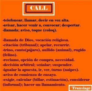 CALL: from English to Spanish