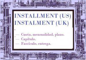 Installment or instalment in Spanish