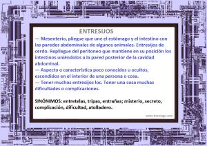 Definición de entresijos.